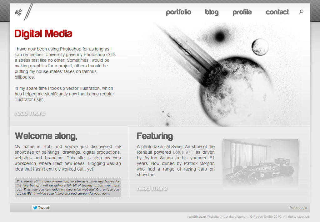 Old rcsmith homepage